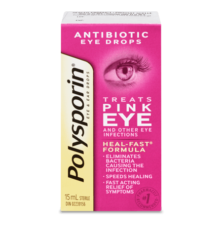 polysporin eye and ear drops box