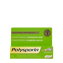POLYSPORIN® Kids Cream with Heal-Fast Formula with infection protection and soothing pain relief, 2 antibiotics