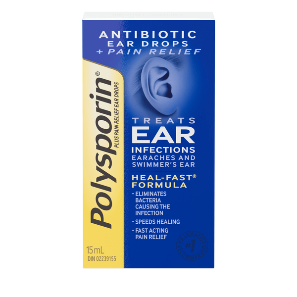 polysporin plus pain ear drops box